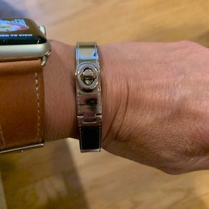 Coach silver plated bangle